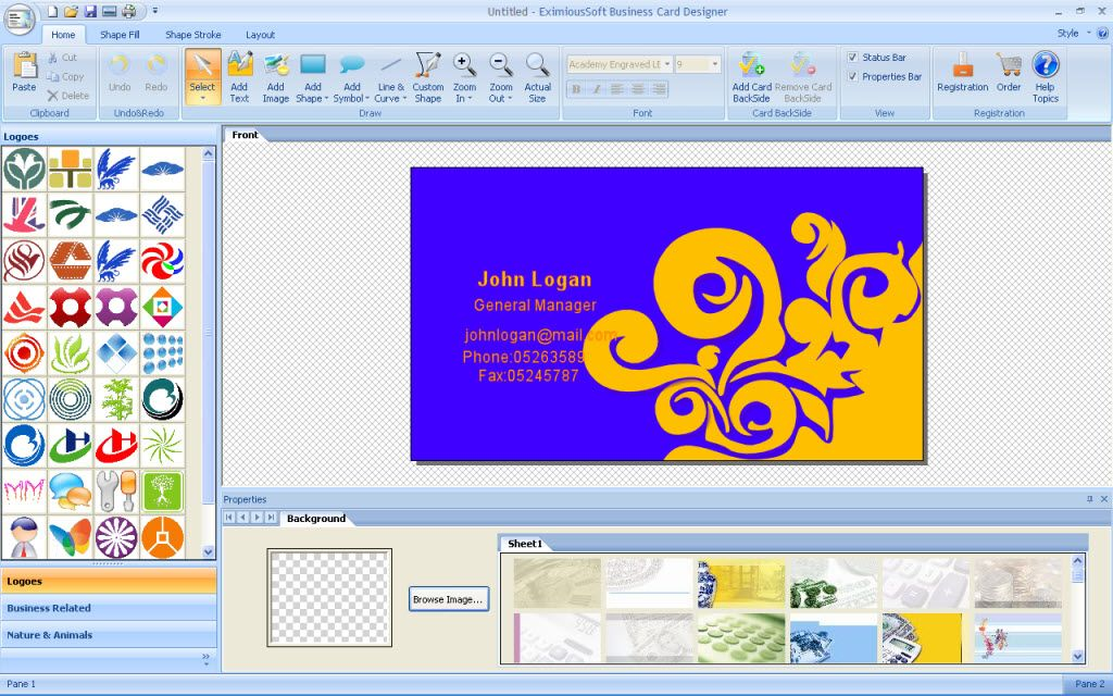 Best business card creator software free download photos business fine business card creator software free download pictures reheart Gallery