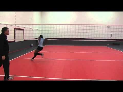 Trabajo De Carrera De Central Entrenar Voleibol Voleibol Voley