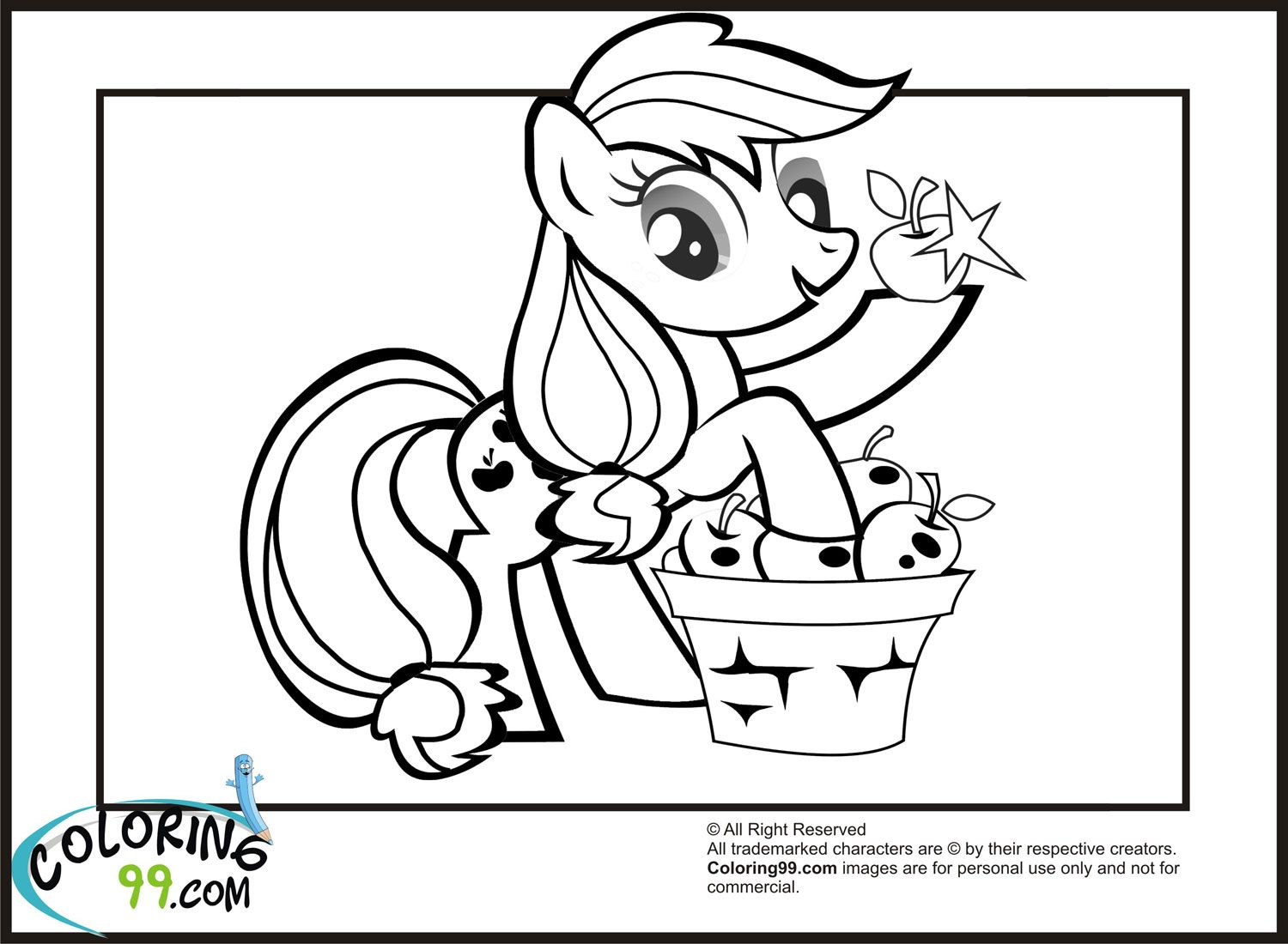My little pony applejack coloring pages - Applejack Coloring Pages With Her Sweet Apple Nice Ideas For Your Kids Leisure Times