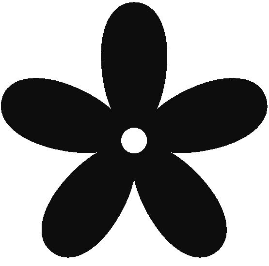 Retro Flower 8 Color Colour Gray 5 Peace Png Retro Flowers Clip Art Stencil Designs