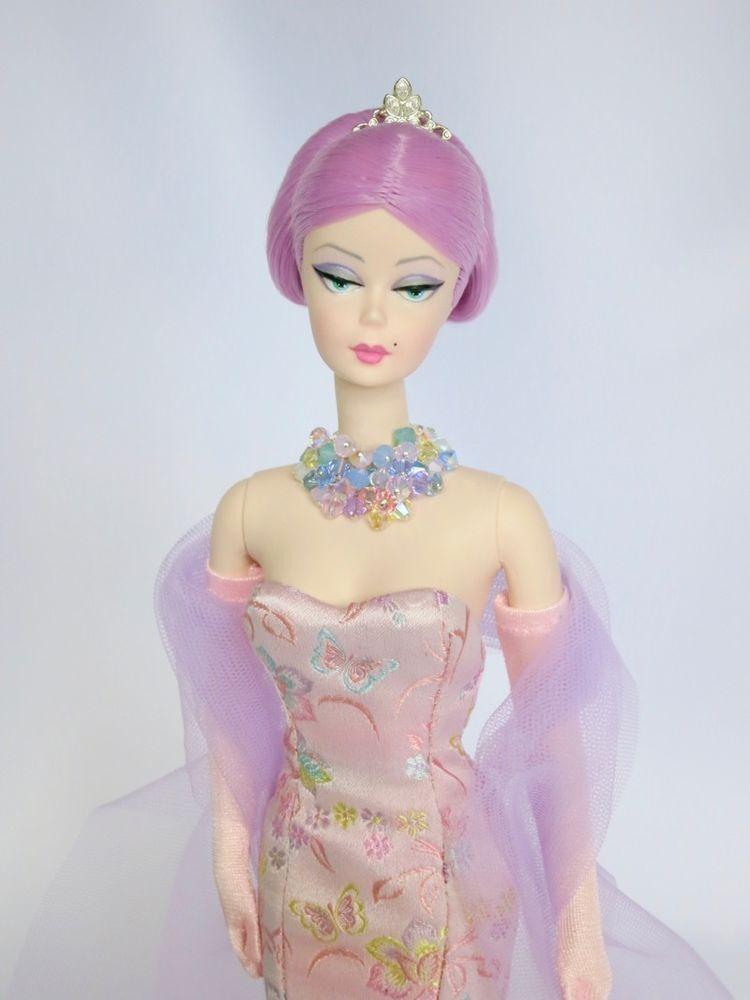 OOAK Tattoo Barbie doll, rerooted BLUE hair & Tattoos