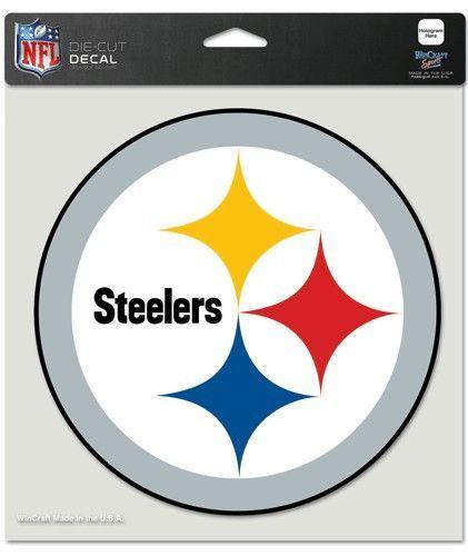 b9ec66c40 Pittsburgh Steelers Decal 8x8 Die Cut Color   CRAFTING   Pittsburgh ...
