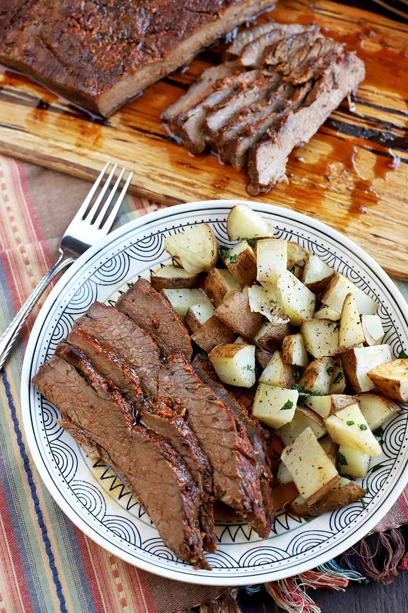 Make The Best Oven Roasted Beef Brisket For Dinner Tonight Foodal Recipe Beef Brisket Delicious Beef Recipe Oven Roasted Brisket