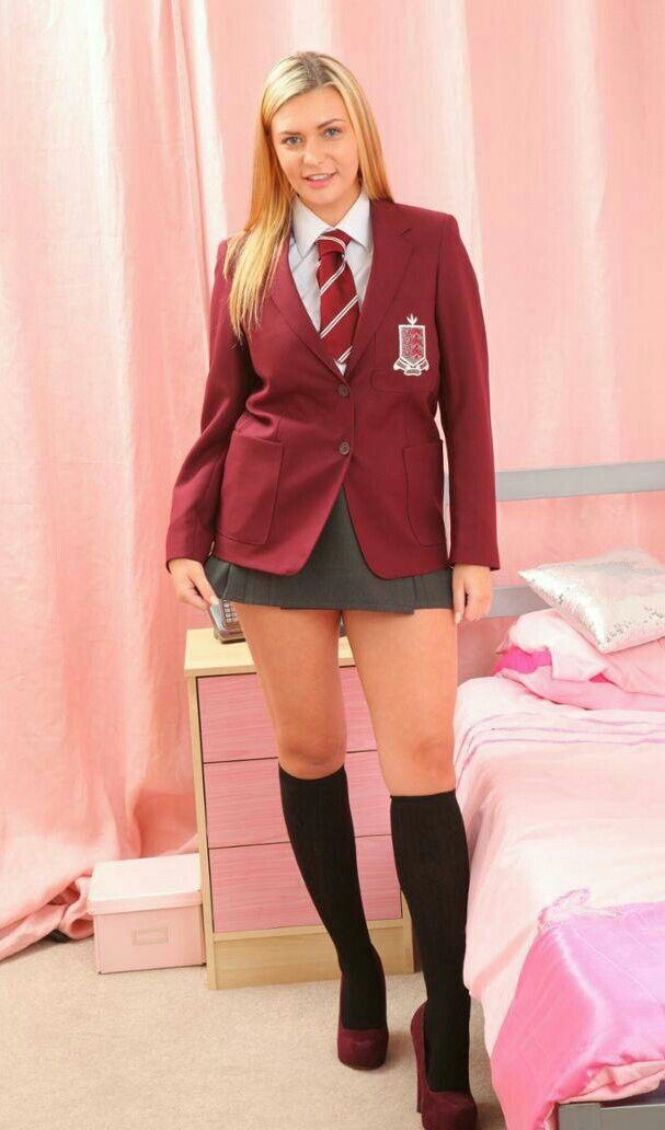 Naturally hairy petite school teacher short skirt