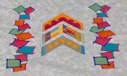 Capable of sewing embroidery designs with up to 200,000 stitches