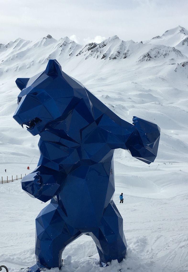 standing wild bear by richard orlinski val d 39 isere sculpture pinterest sculpture art. Black Bedroom Furniture Sets. Home Design Ideas