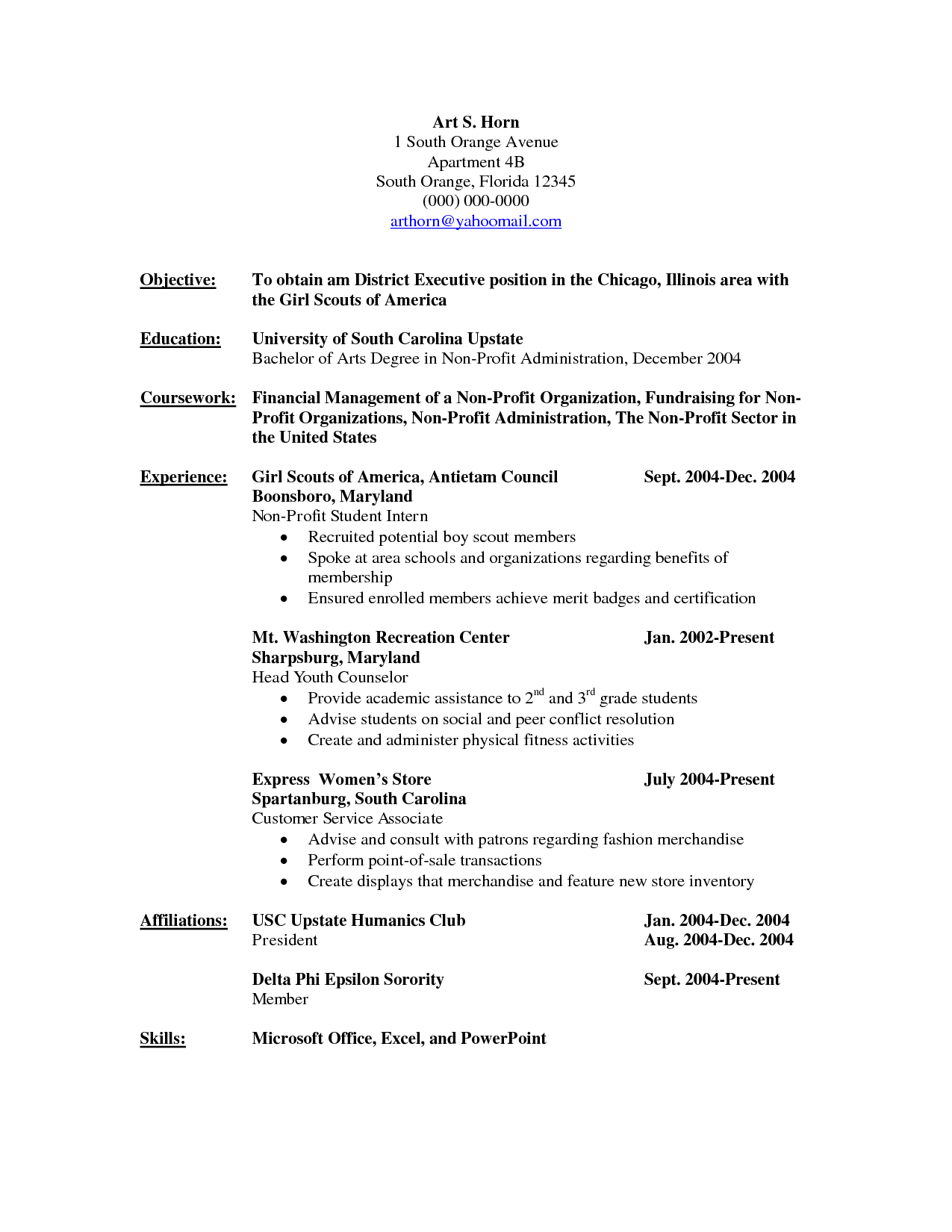 Non Chronological Chronological resume template, Resume