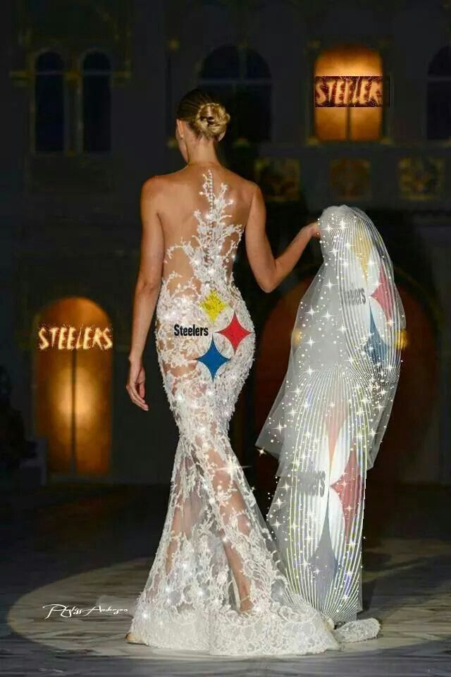 Pittsburgh Steelers S Wedding Dress Wedding Dresses Gowns Beautiful Gowns