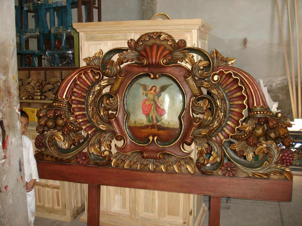 Casa virreyes cabeceras headboards camas talladas for Muebles tallados en madera