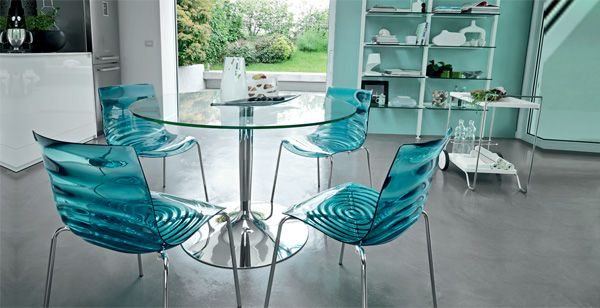 Mc26378 Table Ronde 120 Cm Chaise Salle A Manger Table A Manger En Verre Tables De Cuisine En Verre