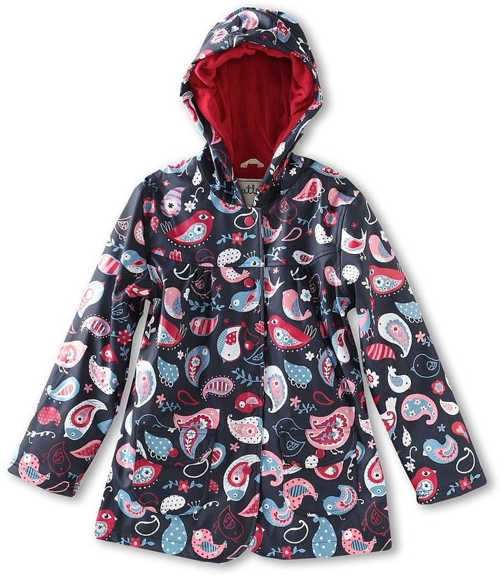 661e8bd59 Hatley Girls' Rain Coat (Toddler/Little Kids/Big Kids) (Paisley Bird ...