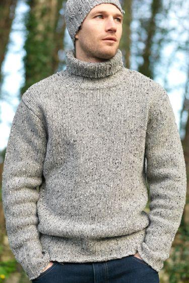 Made In Ireland Wollpullover Pullover Herren Rollkragen