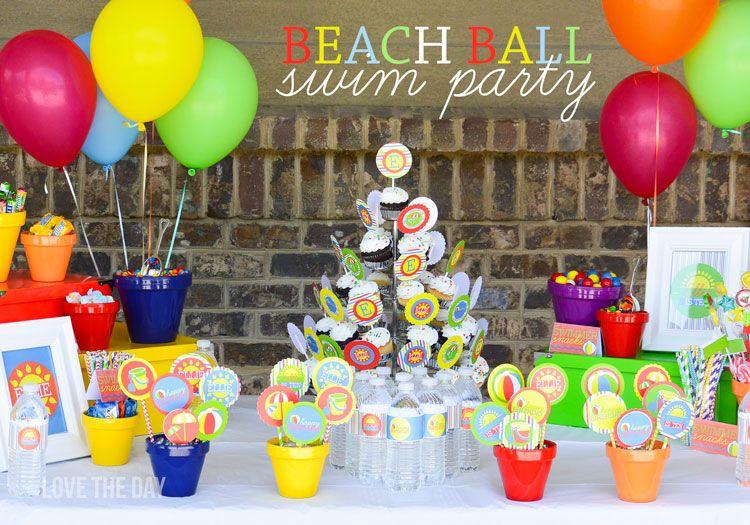 Beach Birthday Party Ideas on Birthday party ideas Birthdays
