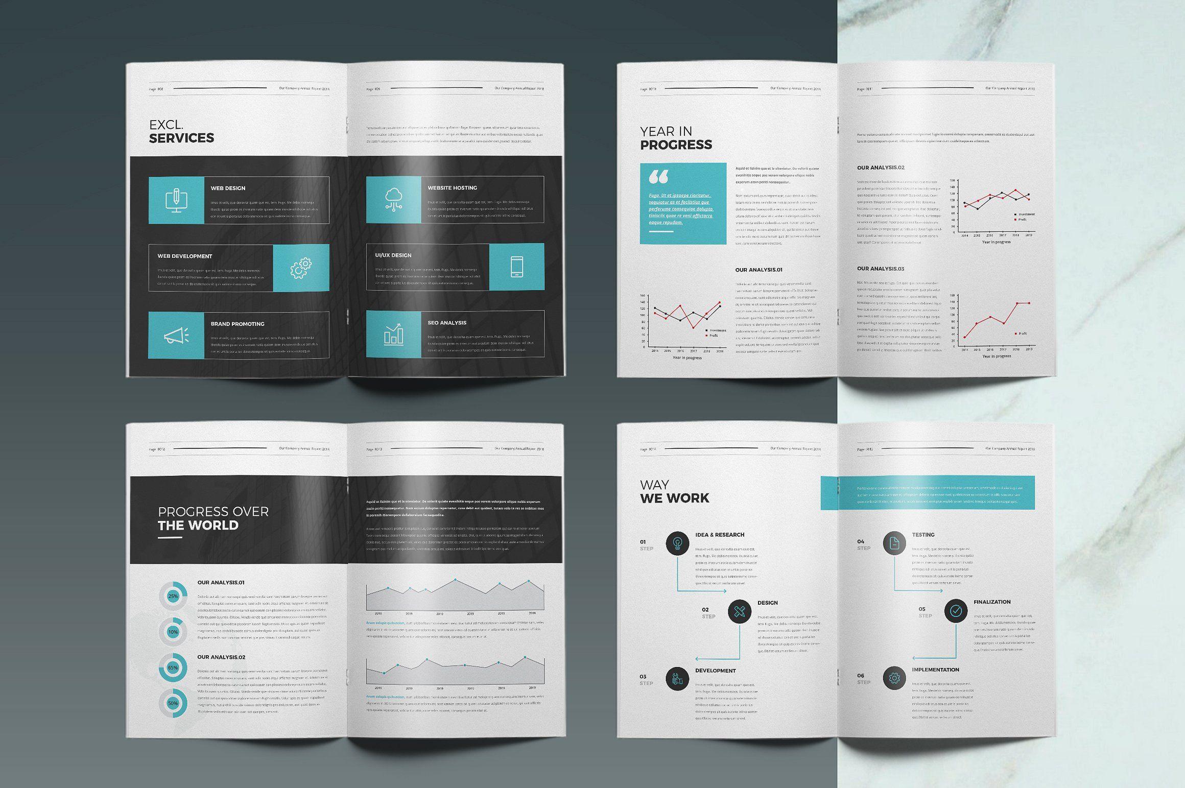 Annual Report Template Report Template Templates