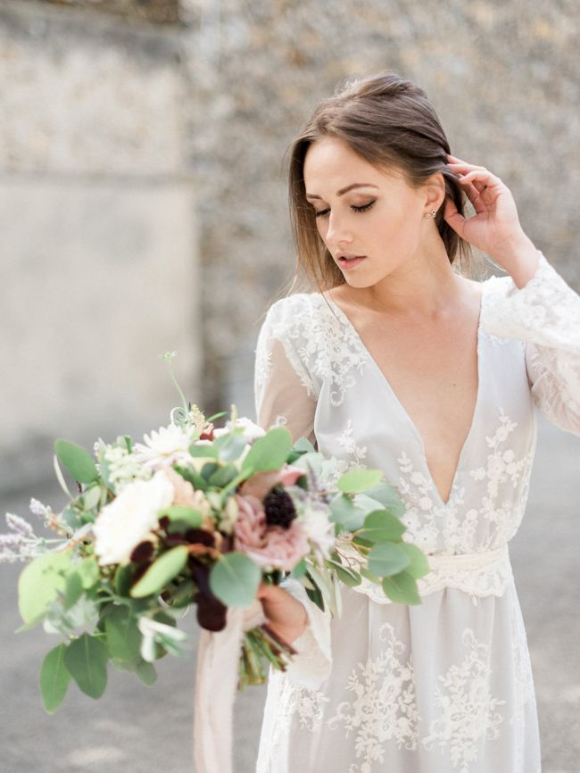d674b640d9bc 20 Wedding Dresses for a Boho Bride from Etsy | Credit: Claudia Wedding  Dress by This Modern Love Bridal (Image: Victoria JK Lamburn)