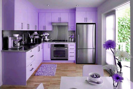 Cuisine mauve inspiration autour d 39 une couleur encore m connue kitchen deco violet - Deco cuisine violet ...