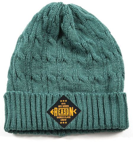 World Class Cable Knit Beanie - Seafoam