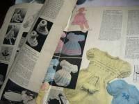 Linge ancien, antiquités, mercerie ancienne au Souffle d'Antan - mercerie ancienne, papiers et revues - Collection BLEUET Layette au tricot Revue ancienne N° 470 année 1948