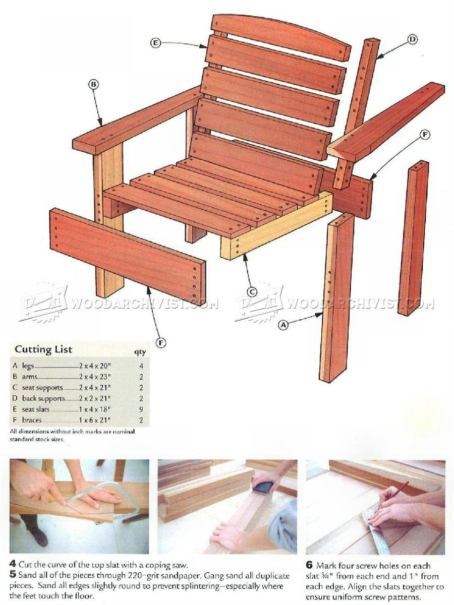 2 x 4 deck chair ikea hanging wicker 3079 plans outdoor furniture zz pinterest