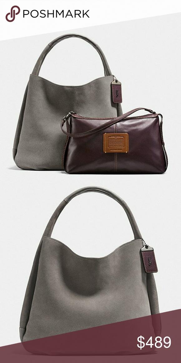 840eb3c219 Black Leather · NWT COACH hobo bandit shoulder bag 2 bags in 1 COACH bandit  hobo Shoulder Bag