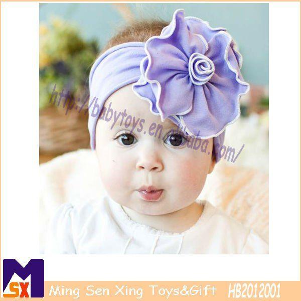 increble color prpura beb diadema elstica elstico flor diademas