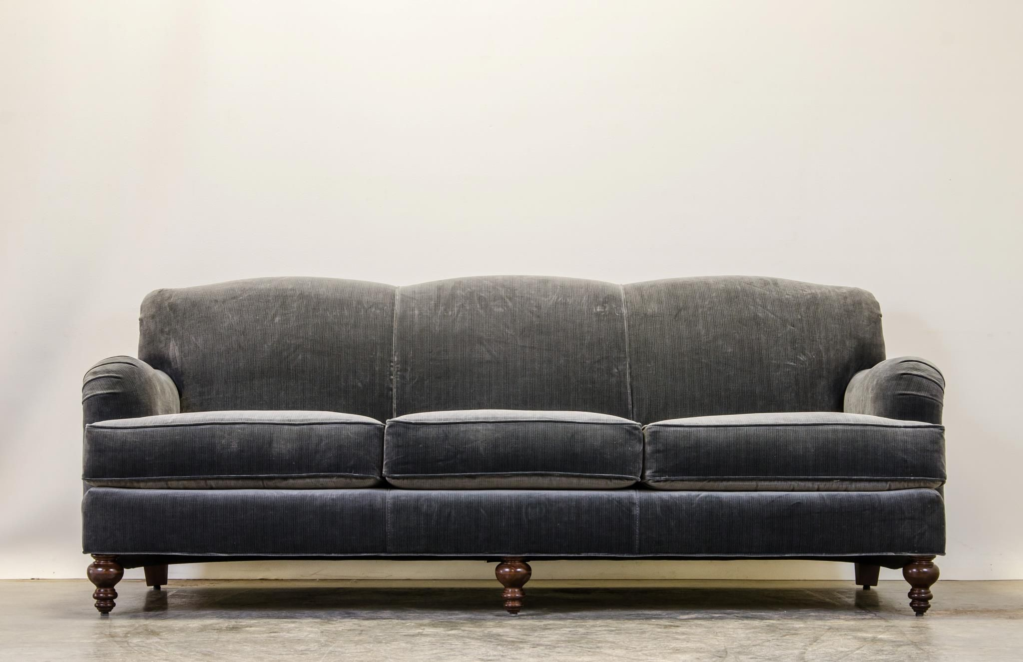 COCOCO Home English Arm Pillow Back Sofa in Mont Blanc Storm Make