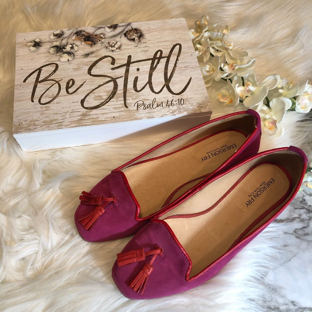 Emerson Fry Shoes | Emerson Fry Tassel Loafers Flats Pinkred, 38 | Color: Pink/Red | Size: 8 #emersonfry