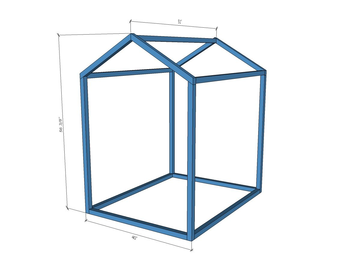 2x2 Indoor Playhouse Frame Indoor Playhouse Play Houses Build