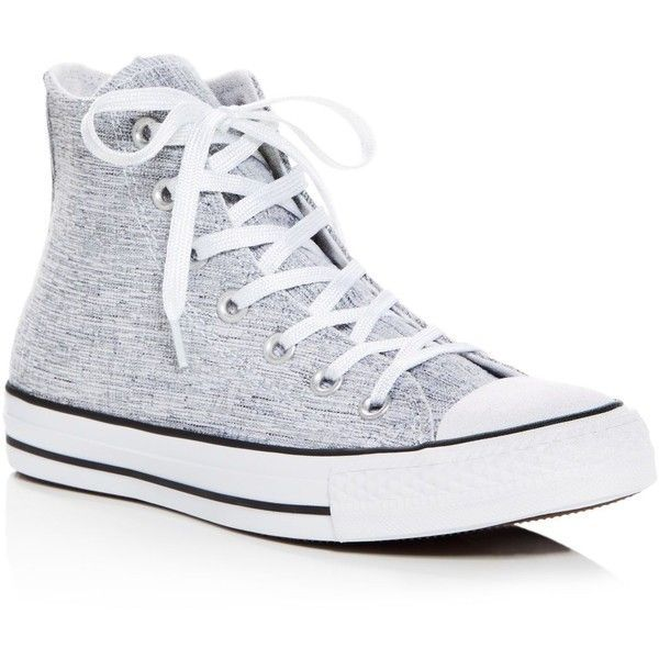 2bfe8a5864cf Converse Chuck Taylor All Star Sparkle Knit High Top Sneakers (235 PEN) ❤  liked on Polyvore featuring shoes