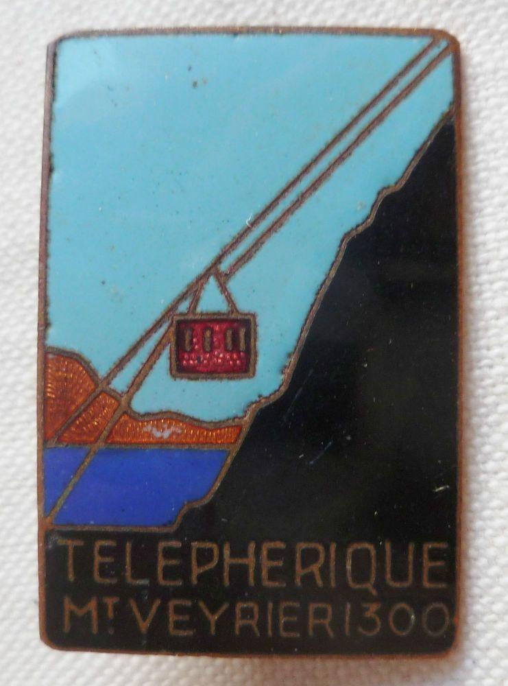 Insigne Ski Montagne TELEPHERIQUE MONT VEYRIER 1300 HAUTE SAVOIE 74 AUGIS 1930