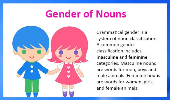 Masculine And Feminine Gender Of Nouns Free Lessons And Worksheets Gender Words Nouns Activities Nouns