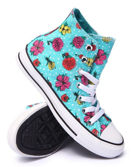 Find Floral Polka Dot Chuck Taylor All Star Hi Sneakers