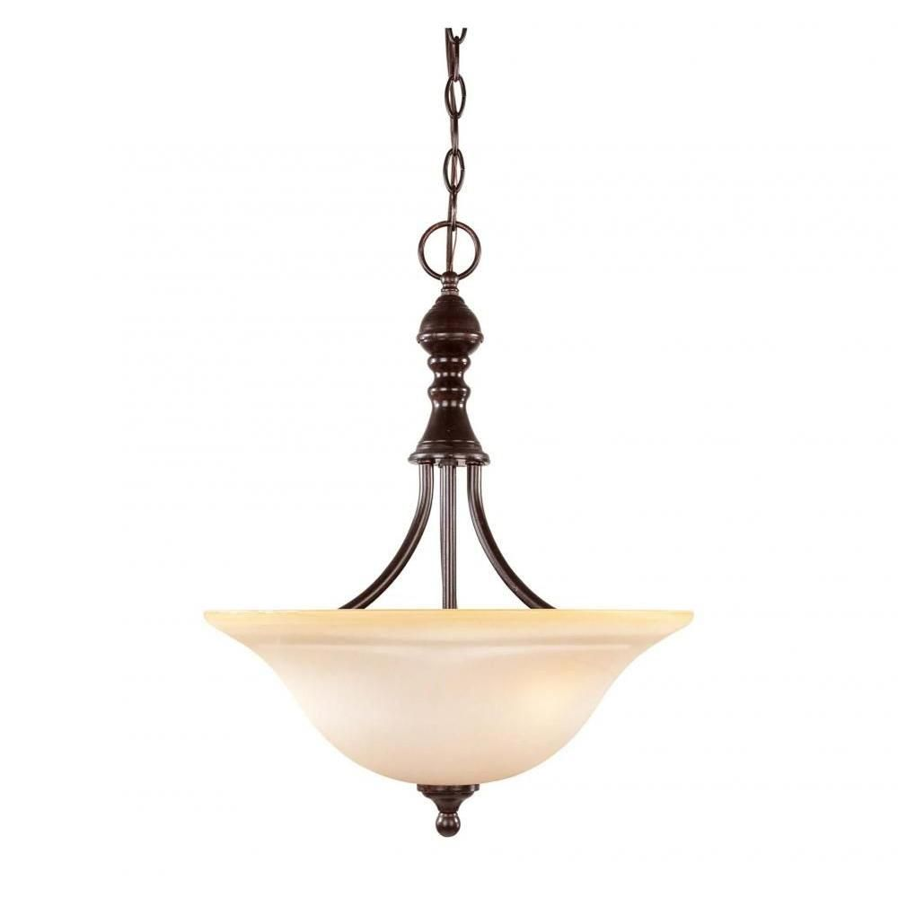 Illumine Benefic 3-Light English Bronze Pendant