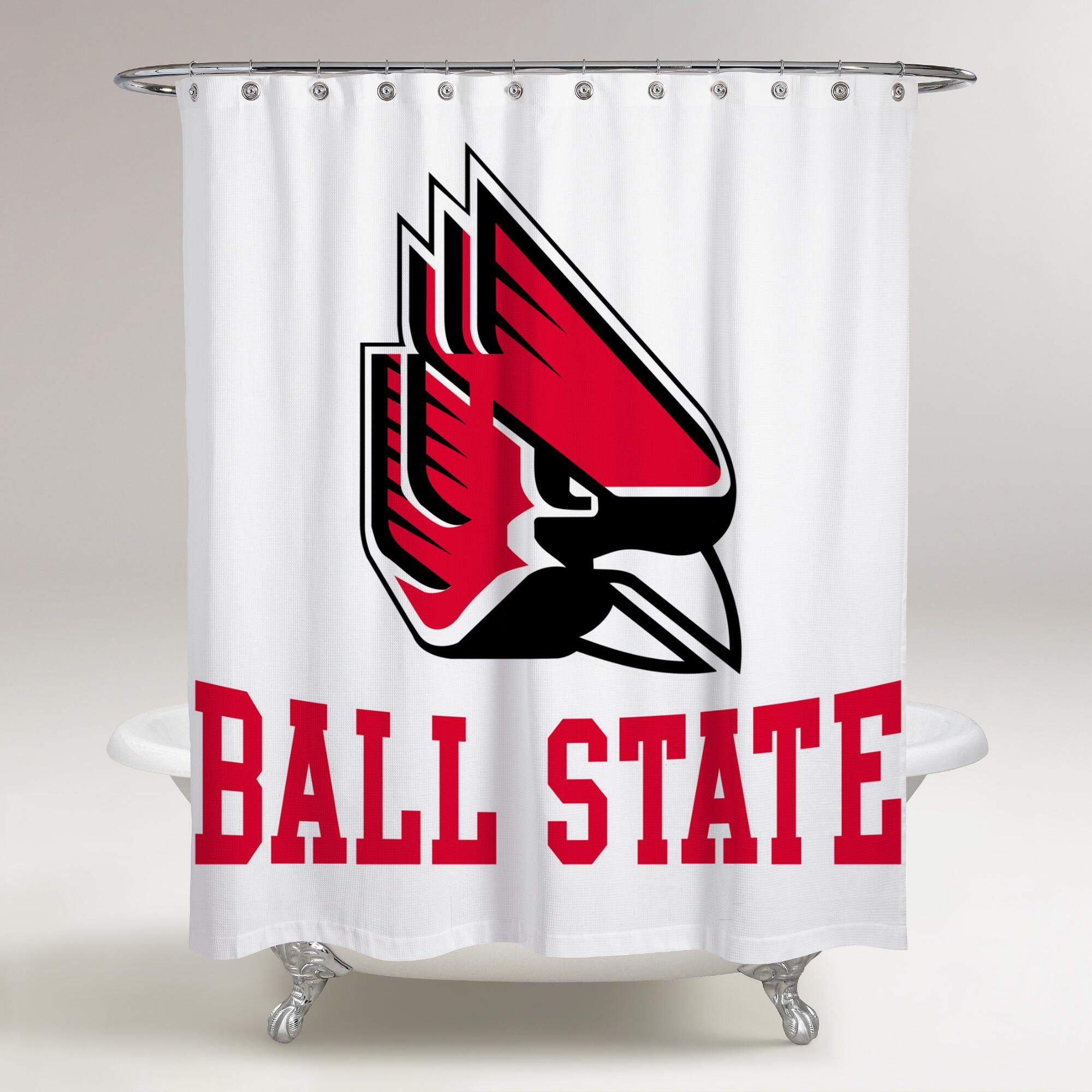 Ball State Cardinals Logo Ball State Printed Shower Curtain