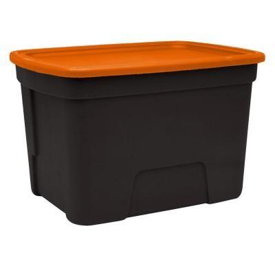 900 Storage Boxes And Bins Ideas, Orange Plastic Storage Totes