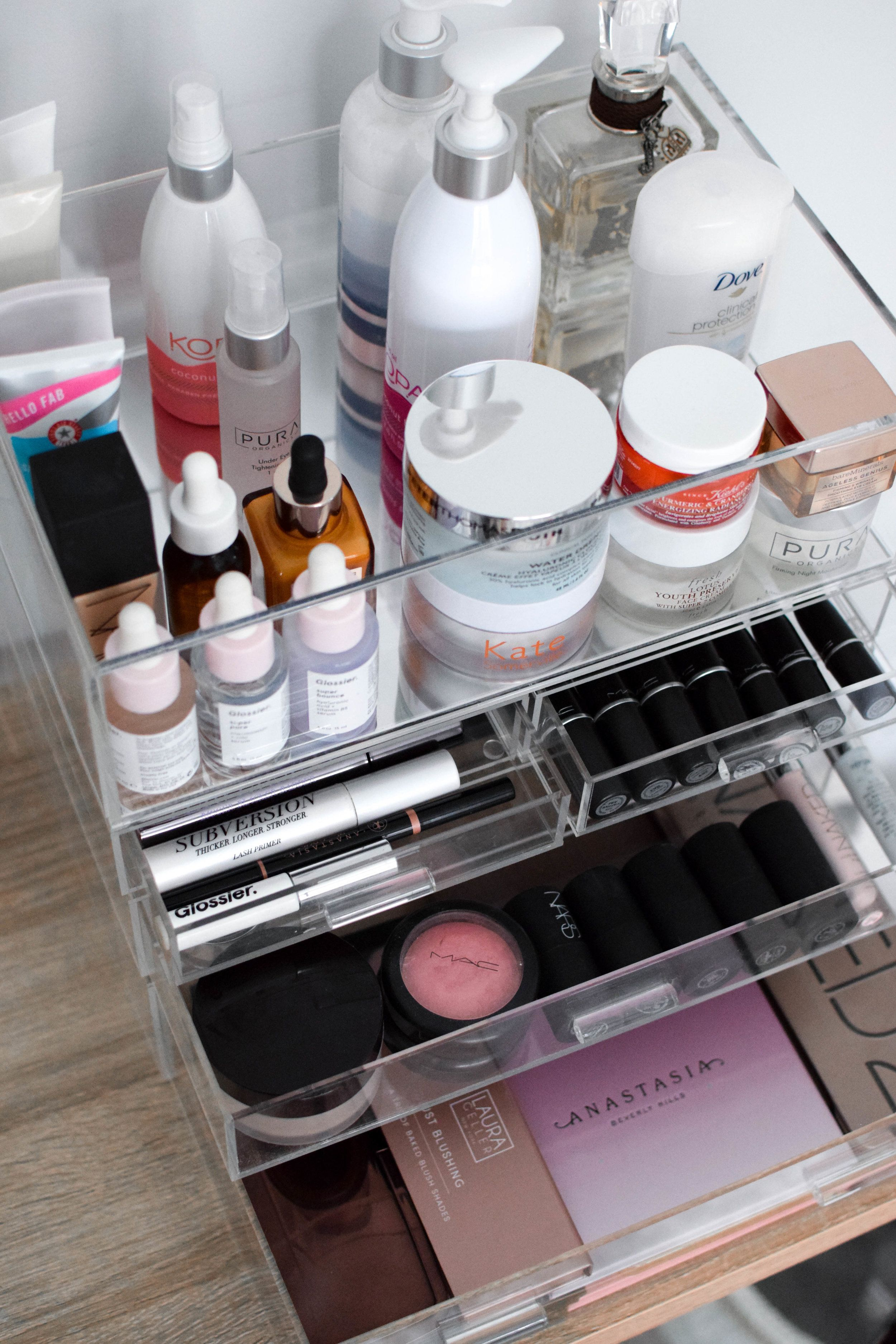 How I Store & Organize My Makeup Products Acrylic makeup