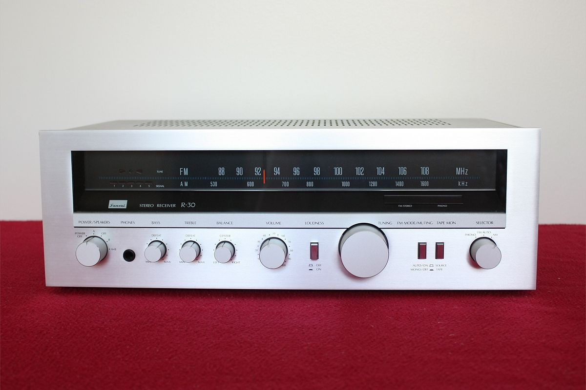 Sansui R-30 receiver/amplifier released in 1980  | audiophile and