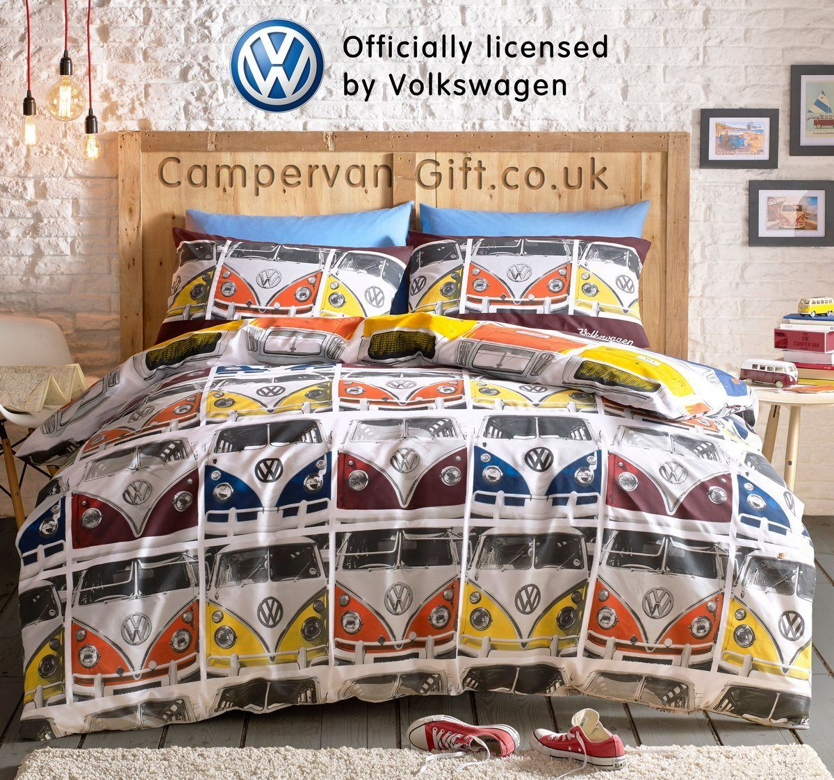 Pillowcases New Retro Campervan Duvet Cover Set Double Bed Quilt Bedding Set