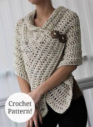 Resultado de imagen para scaldacuore crochet | ponchos y ruanas ...
