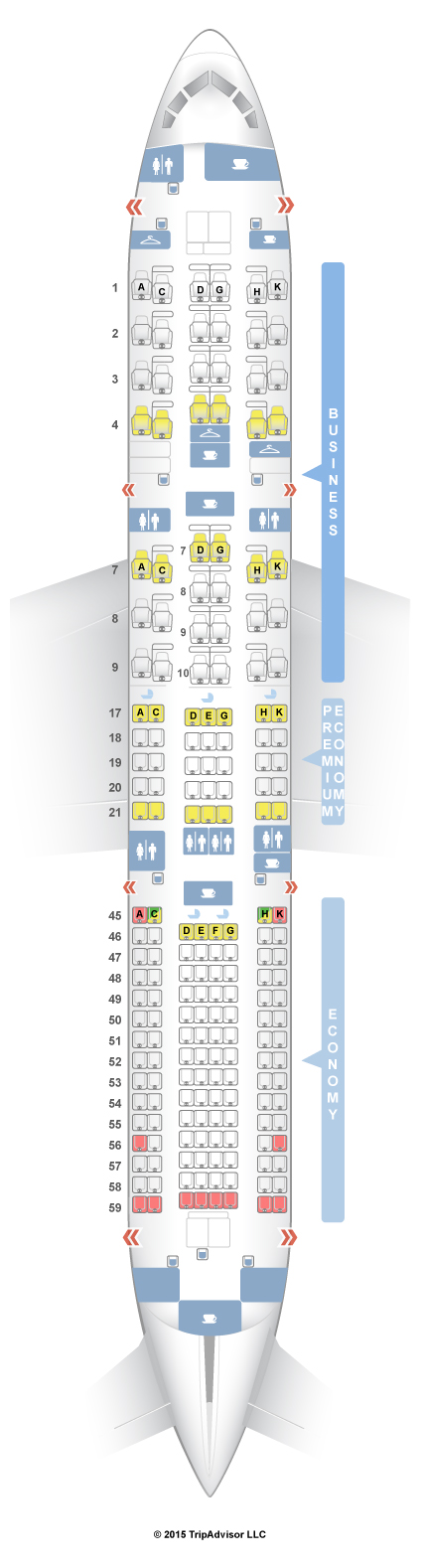 Seatguru Seat Map An Airlines Boeing 787 9 789