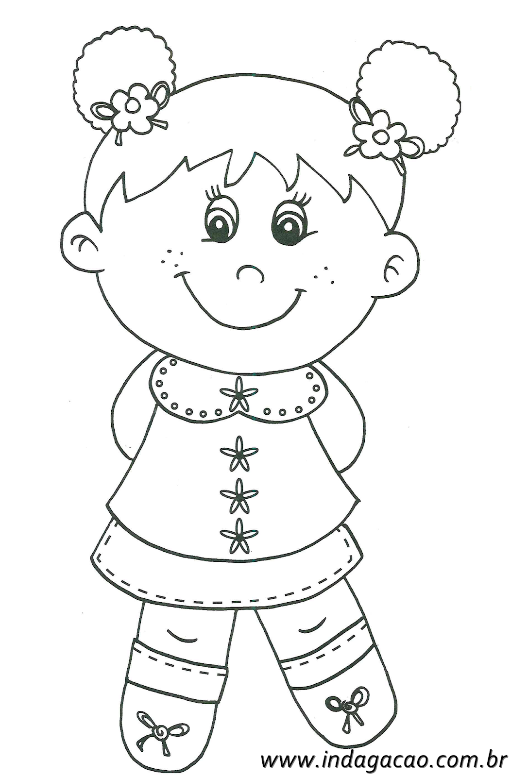Desenho De Menina Para Colorir Baixar Gratis Desenhos Colorir