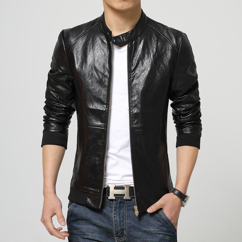 Free Shipping] Buy Best Men's leather jacket large size boutique ...