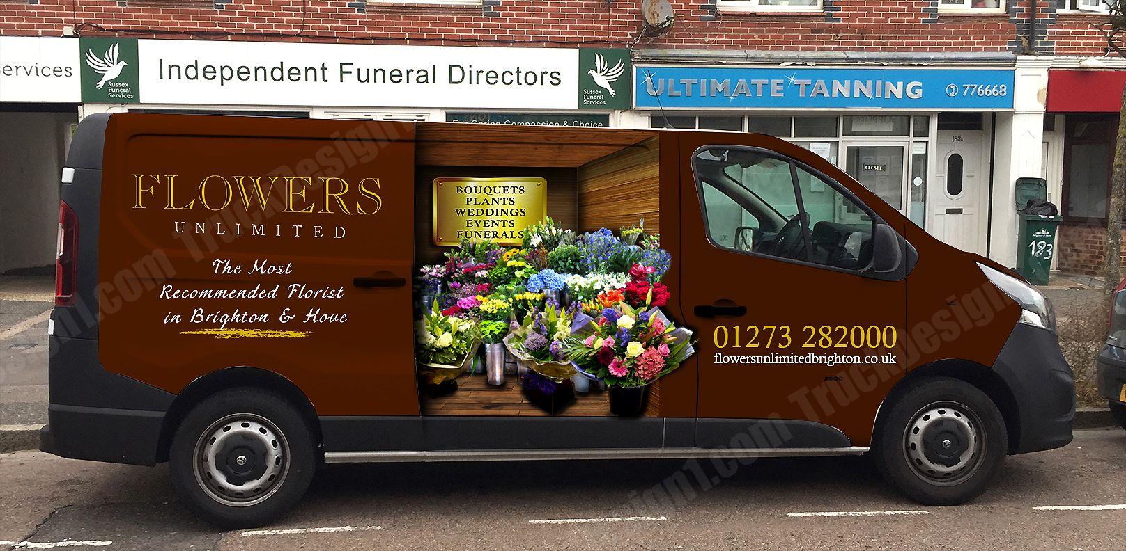 Flowers Unlimited Truck Design Car Wrap Vehicles