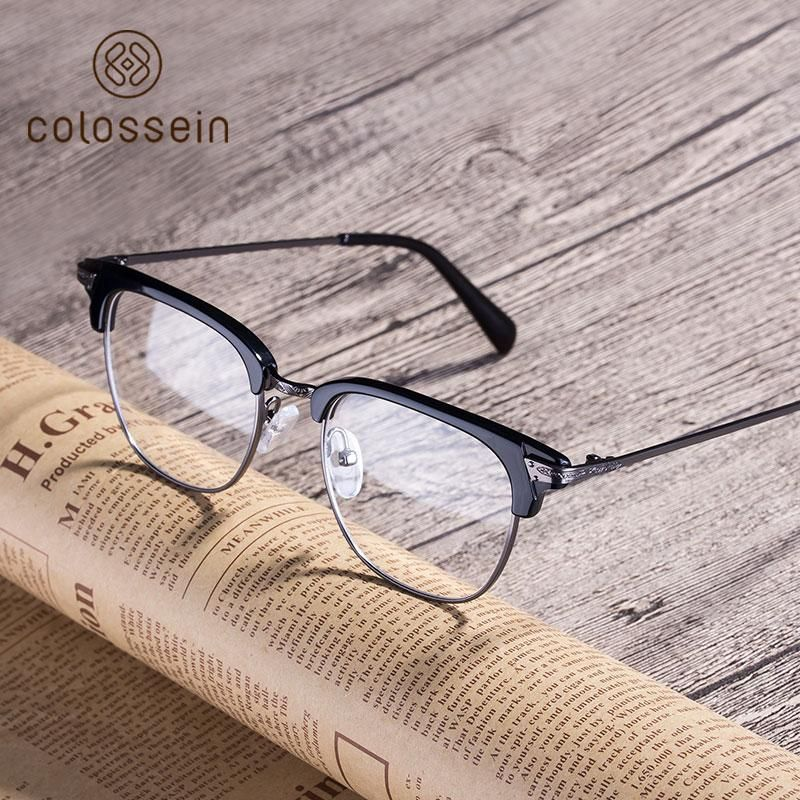 071b153f69 Lenses · Eyewear · COLOSSEIN Vintage sunglasses women fashion brand  designer Acetate women frame round 2018 For Women