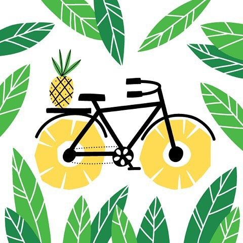 38/100 there is no shortage of ideas when it comes to pineapples, I'm not saying they are all good ideas but I'm posting anyways. #the100dayproject #the100waysofpineapples #salliswindell #studiosss #pineapplebicycle