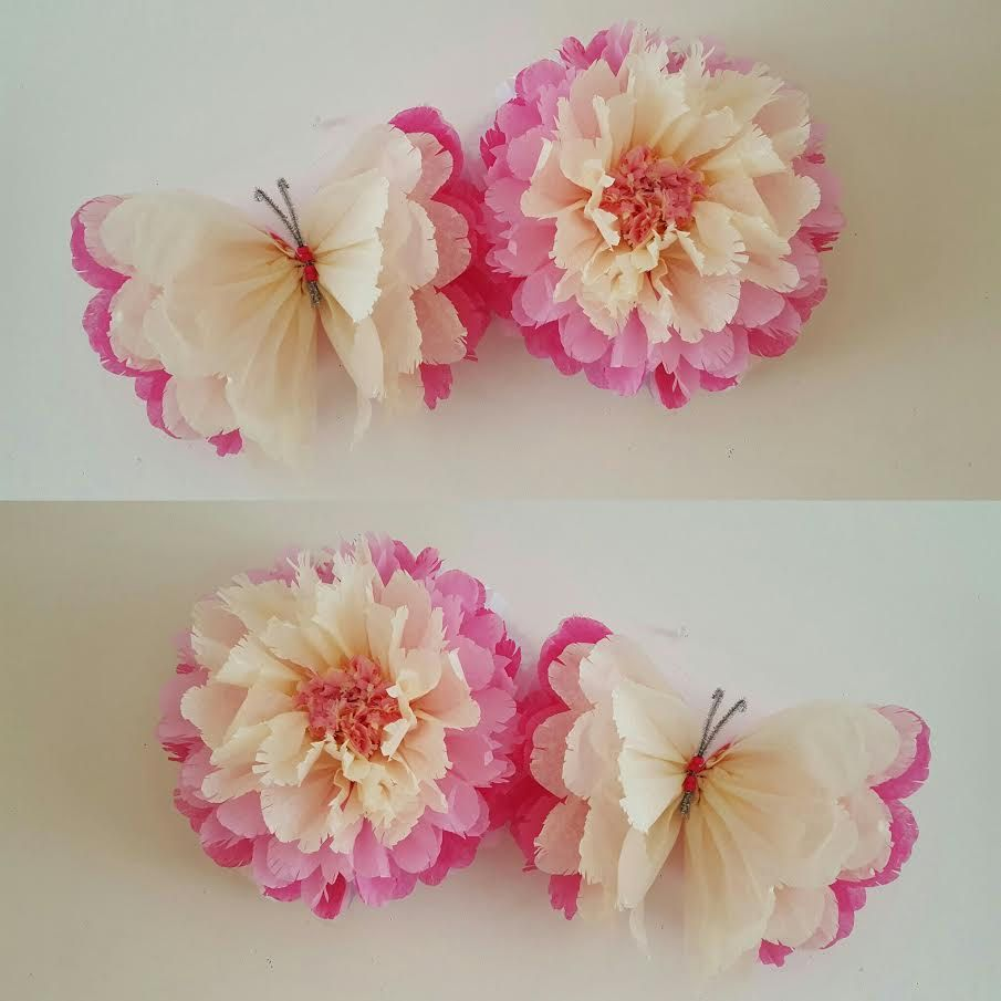 flores  mariposas y  pesas de globo party por Ohsopretty