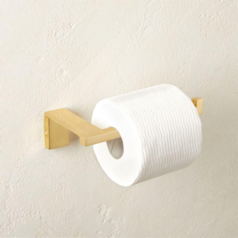 Heavy Solid Brass Toilet Tissue Holder