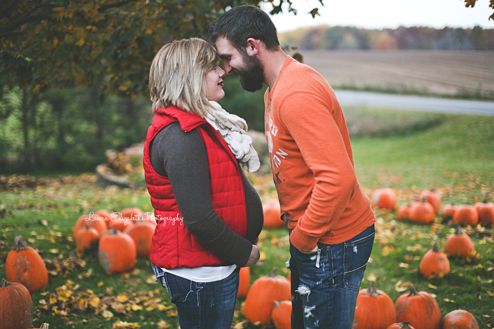 Fall Maternity Session, Ashley & John, Pumpkin Patch! { Laura Elizabeths Photography, A West Michigan Photographer }