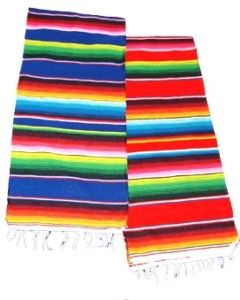 Saltillo Serape Mexican Blanket Table Runner Fiesta