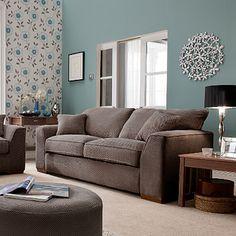 duck egg blue walls with beige furniture for living room Google